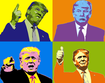 Illustration Donald Trump Expressions