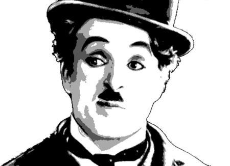 Foto de Editorial Illustration Charles Chaplin - Imagen libre de derechos