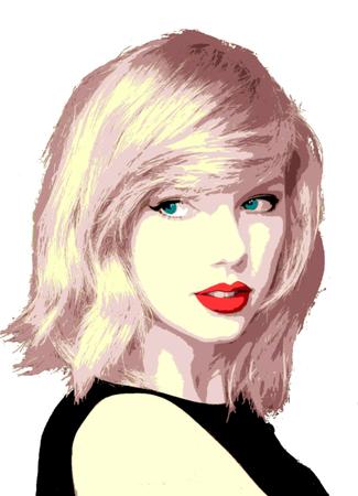 Foto de Editorial Illustration Taylor Swift - Imagen libre de derechos