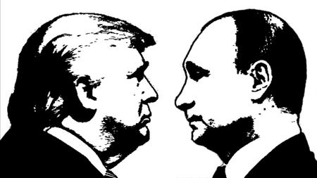 Foto de Editorial Illustration Trump versus Putin - Imagen libre de derechos