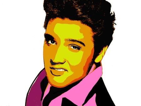 Foto de Editorial Illustration of Elvis Presley - Imagen libre de derechos