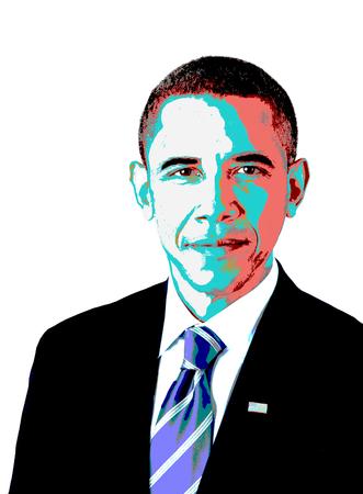 Editorial Drawing of Barack Obama