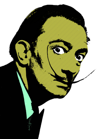 Editorial Illustration of Salvador Dali