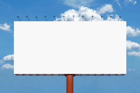 blank billboard for advertisement with beautiful sky background