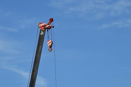 crane with blue sky element of design