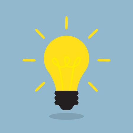 bright light bulb, creative idea concept. vector illustration