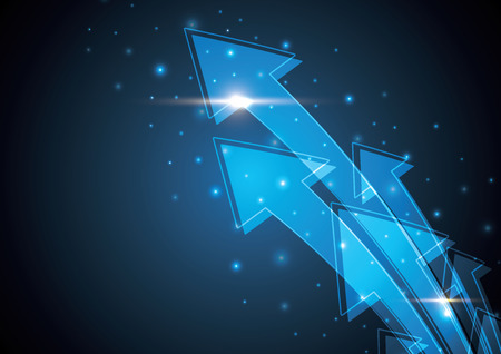 Ilustración de Blue abstract arrow stripe background illustration - Imagen libre de derechos