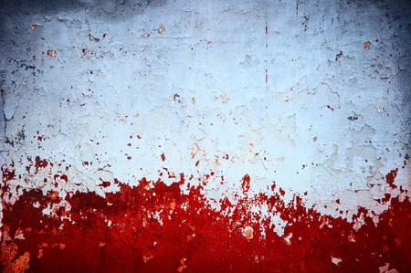 grunge red paint on wall background texture