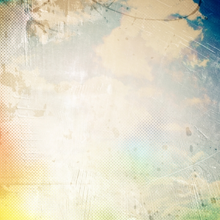 Grunge cloud background, vintage paper texture