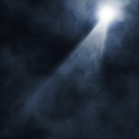 Photo pour Background in show. Spotlight on smog - image libre de droit