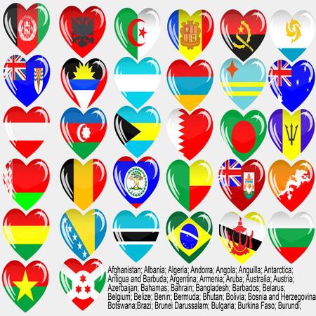 Flags of the countries of the world  Afghanistan; Albania; Algeria; Andorra; Angola; Anguilla; Antarctica; Antigua and Barbuda; Argentina; Armenia; Aruba; Australia; Austria; Azerbaijan; Bahamas; Bahrain; Bangladesh; Barbados; Belarus; Belgium; Belize; Be