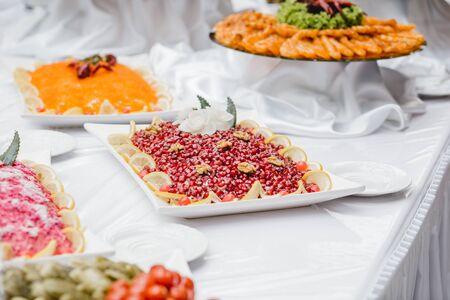 Photo pour catering wedding buffet for events - image libre de droit