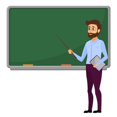 Illustration pour Young teacher illustration. - image libre de droit