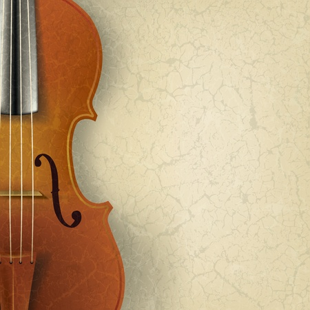 abstract music background with violin on beige