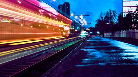 Photo for Long exposure on the highway low light - Royalty Free Image