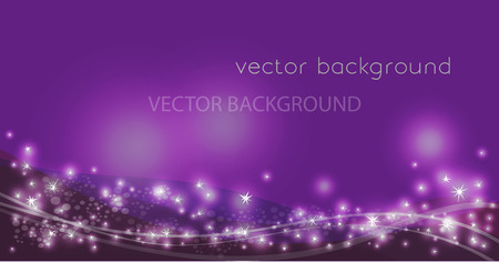 Ilustración de Vector constellation flow in space. Stock background of star wave for design - Imagen libre de derechos