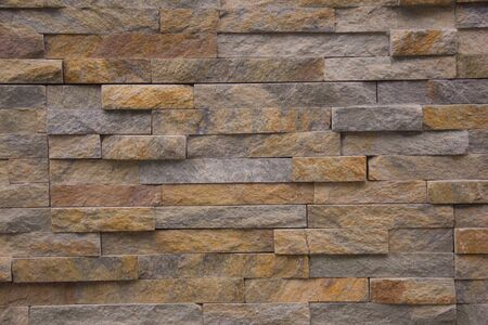 Photo pour The new design of modern wall. Stone tile wall - image libre de droit