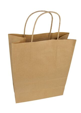 Photo pour Paper bag on a white background. Package Isolate. Disposable paper bag - image libre de droit