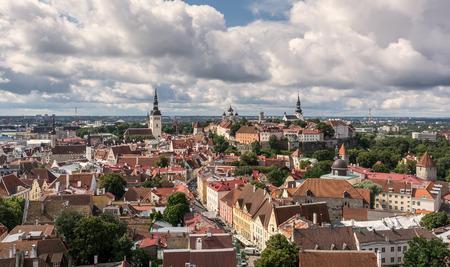 Clouds over Tallinn city