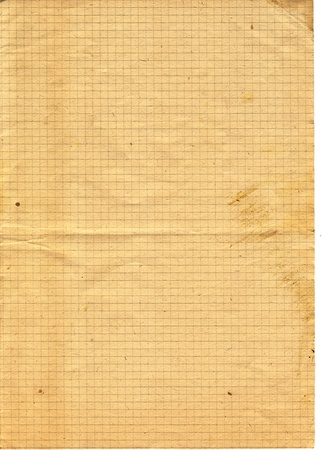 Retro checked textured paper 50 years old