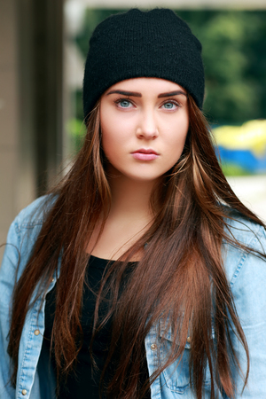 Close-up portrait of a sad young woman