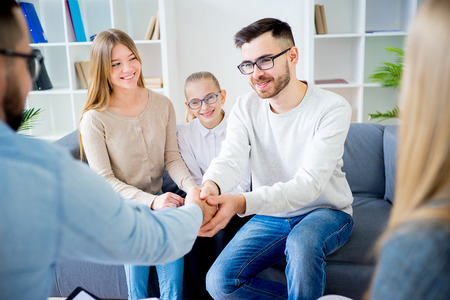 Photo for Family with psychologist - Royalty Free Image