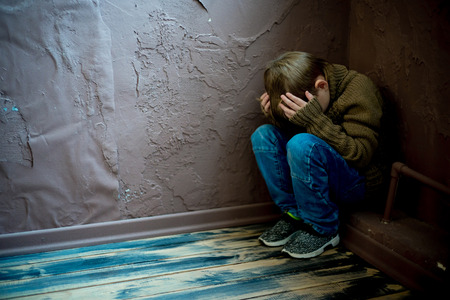 Foto de Child abuse at home - Imagen libre de derechos
