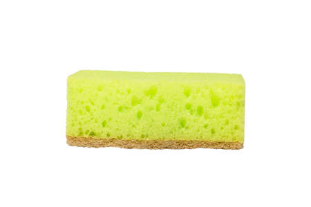 Foto de yellow cleaning sponge. isolate on white background - Imagen libre de derechos