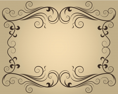 Vintage ornate calligraphic frame with copy space