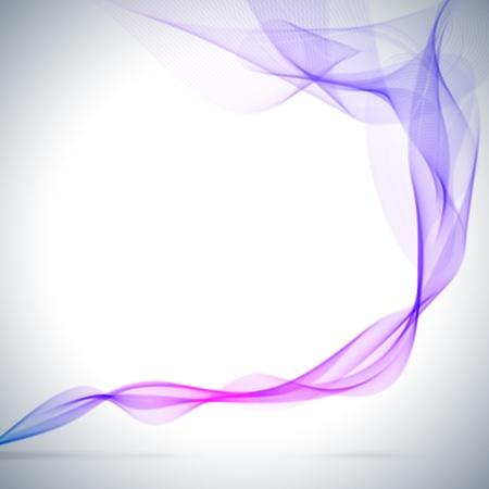 Illustration pour Abstract blue colored smoke vector background  - image libre de droit