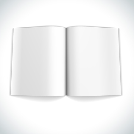 Blank magazine double page spread vector illustration
