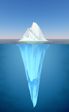 Photo for Iceberg floating in the water realistic illustration. - Royalty Free Image