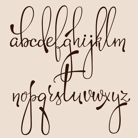 Item Description Handwritten Pointed Pen Ink Style Dacorative Calligraphy Cursive Font Alphabet Cute Letters