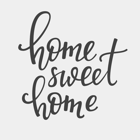 Home Sweet Home vector lettering. Motivational quote. Inspirational typography. Calligraphy postcard poster graphic design lettering element. Hand written sign. Decoration element.