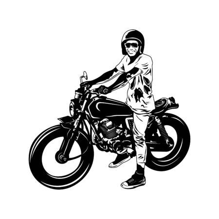 Illustration pour vector motorcycle design with sketch style - image libre de droit