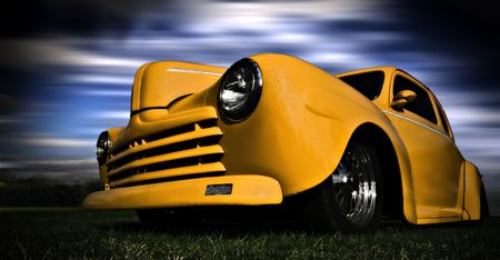 Photo pour Yellow Car - image libre de droit