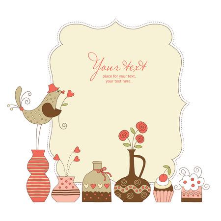 Ilustración de Greeting card - Imagen libre de derechos