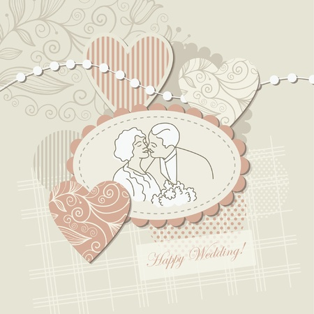 Wedding card ,scrapbook elements