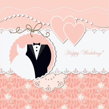 Foto de Wedding card  - Imagen libre de derechos