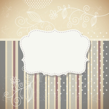 Photo for Vintage frame retro background - Royalty Free Image