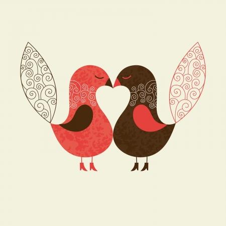 Illustration pour cute birds - image libre de droit