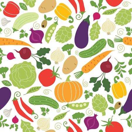 Vektor für seamless pattern , vegetables illustrations - Lizenzfreies Bild