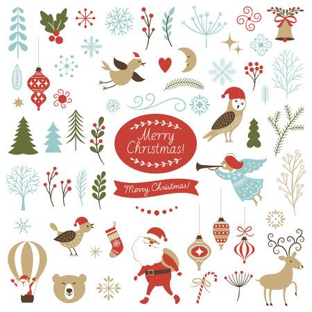 Illustration pour Big Set of Christmas graphic elements - image libre de droit