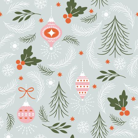 Ilustración de Seamless Christmas Pattern vector illustration. - Imagen libre de derechos