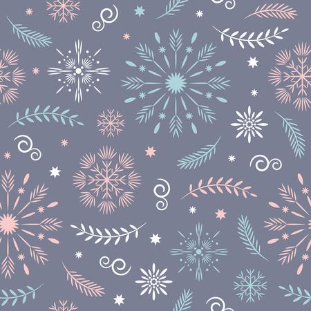 Ilustración de seamless christmas and new year's pattern - Imagen libre de derechos