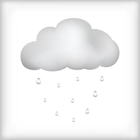 Cloud rain icon isolated on white background