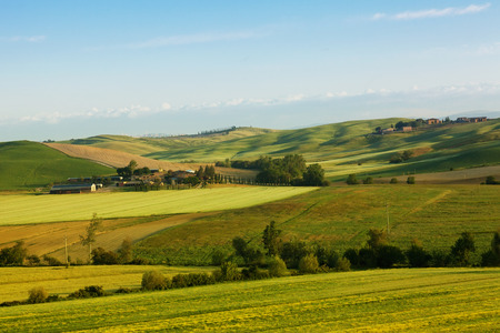 Beautiful morning Tuscan rural landscape