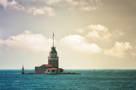Istanbul, view of the Maiden's Tower , Turkey