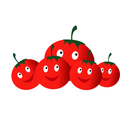 red Vegetables tomatoes smiling