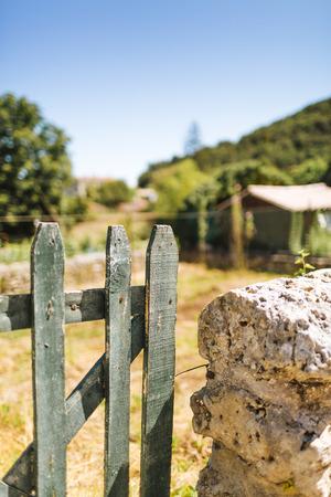 Village Provence - woods gate garden